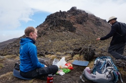 Break at the South Crater entrance