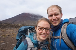 Selfie with Mount Ngāuruhoe