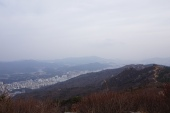 Mountain-top view of Busan