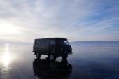 We were taken across Lake Baikal in this old Russian military van.