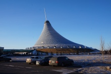 Khan Shatyr, a giant shopping mall in a tent