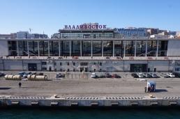 The ferry terminal in Vladivostok