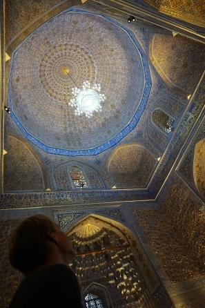 Inside Gur-E-Amir Mausoleum. Extremely beautiful!