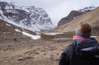 Gitte looking towards Engels Peak.