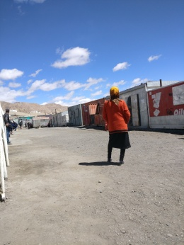 The bazar in Murghab — long rows of containers each containing a small shop.