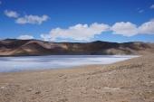 The frozen part of Lake Bulunkul
