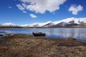 A fisherboat in Lake Bulunkul