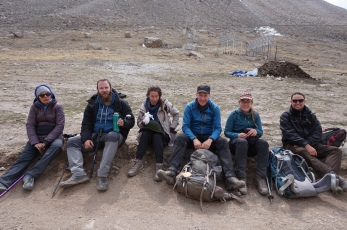 The tour group, from the left: Gagan, Cameron, Andrea, Ulrik, Gitte, and Adrian.