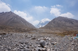 Mt. Kailash has a very distinct bowler-hat shape.