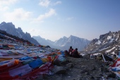 View from the Dolma La pass.