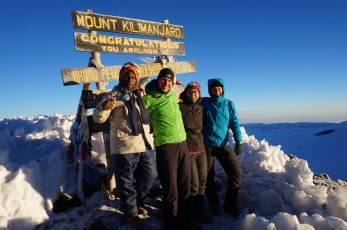 Michael, Ulrik, Gitte and Tine on top of Africa