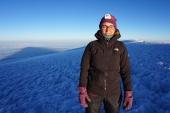 Gitte at Uhuru Peak