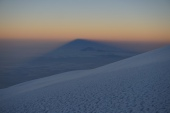 Mt. Meru in the shadow of Mt. Kilimanjaro.