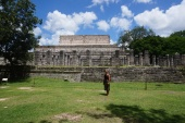 Gitte in front of the Thousand Columns, Chichén Itzá