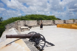 On top of the Fort of San Miguel